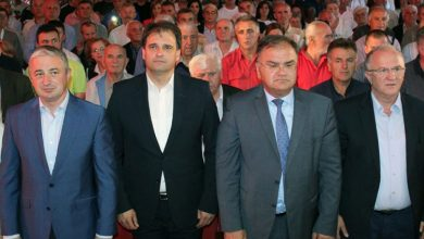 Branislav Borenović, Vukota Govedarica, Mladen Ivanić i Dragan Čavić u ŠipovuBranislav Borenović, Vukota Govedarica, Mladen Ivanić i Dragan Čavić u Šipovu