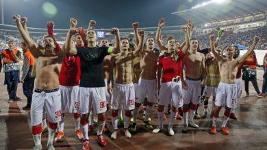 Igrači Crvene Zvezde nakon utakmice