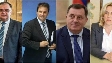 Mladen Ivanić, Vukota Govedarica, Milorad Dodik, Željka Cvijanović