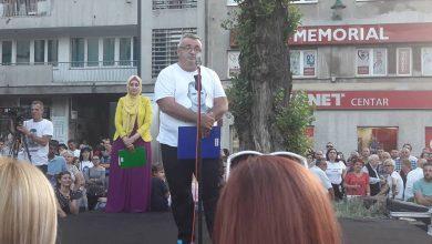 Muriz Memić tokom protesta 21. jula (foto: Patria)