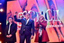 Igor Radojičić, Milorad Dodik i Željka Cvijanović na predizbornom skupu u Banjaluci
