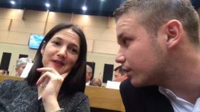 Jelena Trivić i Draško Stanivuković u Narodnosj skupštini